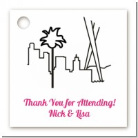 Los Angeles Skyline - Personalized Bridal | Wedding Card Stock Favor Tags