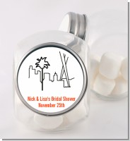 Los Angeles Skyline - Personalized Bridal Shower Candy Jar