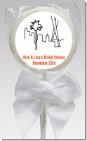 Los Angeles Skyline - Personalized Bridal Shower Lollipop Favors