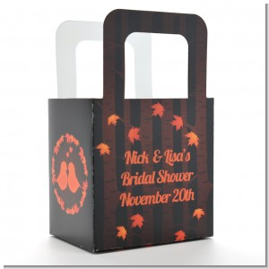 Fall Love Birds - Personalized Bridal Shower Favor Boxes