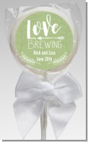 Love Brewing - Personalized Bridal Shower Lollipop Favors