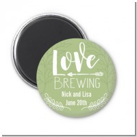 Love Brewing - Personalized Bridal Shower Magnet Favors
