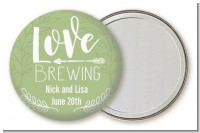 Love Brewing - Personalized Bridal Shower Pocket Mirror Favors