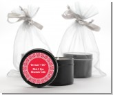 Love is Blooming Red - Bridal Shower Black Candle Tin Favors
