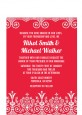 Love is Blooming Red - Bridal Shower Petite Invitations thumbnail