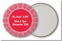 Love is Blooming Red - Personalized Bridal Shower Pocket Mirror Favors