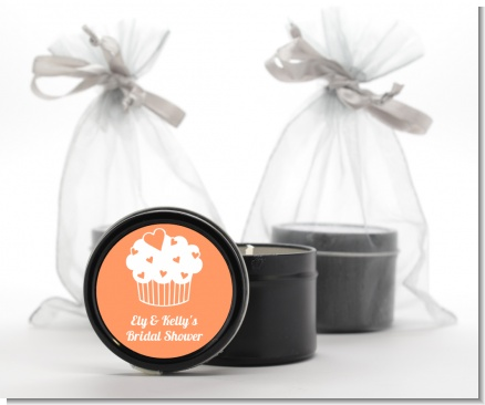Love is Sweet - Bridal Shower Black Candle Tin Favors