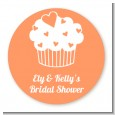 Love is Sweet - Round Personalized Bridal Shower Sticker Labels thumbnail