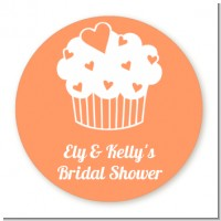 Love is Sweet - Round Personalized Bridal Shower Sticker Labels