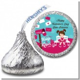 Love Letters - Hershey Kiss Valentines Day Sticker Labels