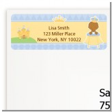 Little Prince African American - Baby Shower Return Address Labels