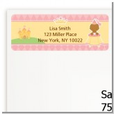 Little Princess African American - Baby Shower Return Address Labels