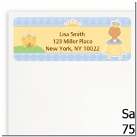 Little Prince Hispanic - Baby Shower Return Address Labels