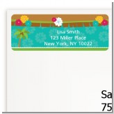 Luau - Baby Shower Return Address Labels