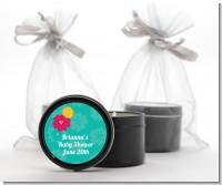 Luau - Baby Shower Black Candle Tin Favors