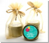 Luau - Baby Shower Gold Tin Candle Favors