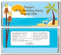Luau - Personalized Birthday Party Candy Bar Wrappers