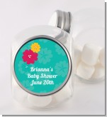Luau - Personalized Baby Shower Candy Jar