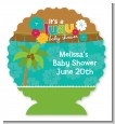 Luau - Personalized Baby Shower Centerpiece Stand thumbnail