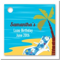 Luau - Personalized Birthday Party Card Stock Favor Tags