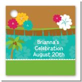 Luau - Personalized Baby Shower Card Stock Favor Tags