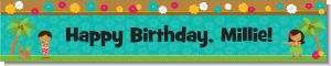 Luau Friends - Personalized Birthday Party Banners