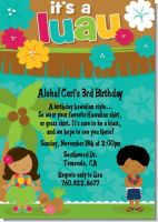 Luau Friends - Birthday Party Invitations