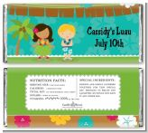 Luau Friends - Personalized Birthday Party Candy Bar Wrappers