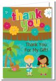 Luau Friends - Birthday Party Thank You Cards