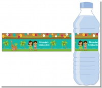 Luau Friends - Personalized Birthday Party Water Bottle Labels