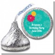 Luau - Hershey Kiss Birthday Party Sticker Labels thumbnail