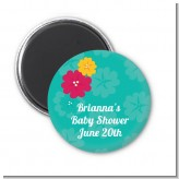 Luau - Personalized Baby Shower Magnet Favors