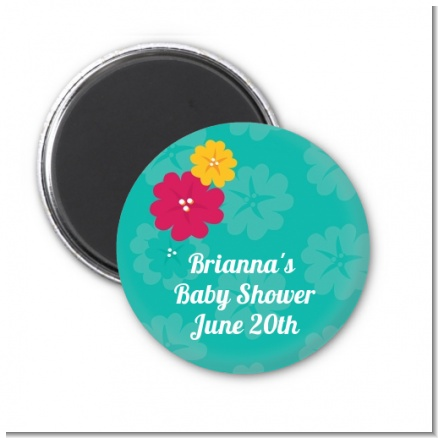 Luau - Personalized Birthday Party Magnet Favors