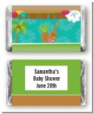 Luau - Personalized Baby Shower Mini Candy Bar Wrappers