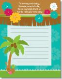 Luau - Baby Shower Notes of Advice