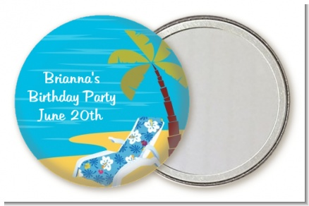 Luau - Personalized Birthday Party Pocket Mirror Favors