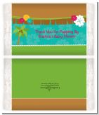 Luau - Personalized Popcorn Wrapper Baby Shower Favors