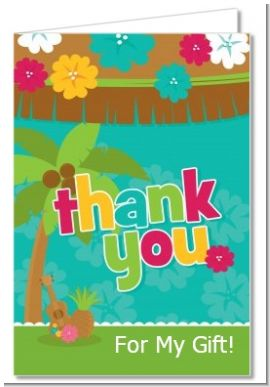 Luau - Baby Shower Thank You Cards
