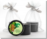 Luau Tiki - Birthday Party Black Candle Tin Favors