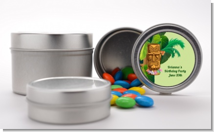 Luau Tiki - Custom Birthday Party Favor Tins