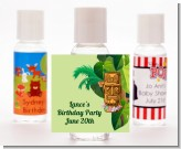 Luau Tiki - Personalized Birthday Party Hand Sanitizers Favors