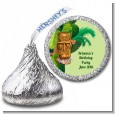 Luau Tiki - Hershey Kiss Birthday Party Sticker Labels thumbnail