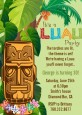 Luau Tiki - Birthday Party Invitations thumbnail