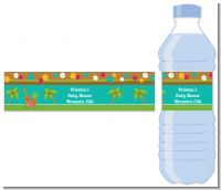 Luau - Personalized Baby Shower Water Bottle Labels