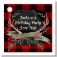 Lumberjack Buffalo Plaid - Personalized Birthday Party Card Stock Favor Tags thumbnail