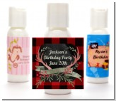 Lumberjack Buffalo Plaid - Personalized Birthday Party Lotion Favors