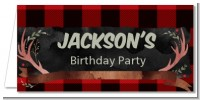 Lumberjack Buffalo Plaid - Personalized Birthday Party Place Cards