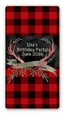 Lumberjack Buffalo Plaid - Custom Rectangle Birthday Party Sticker/Labels