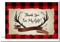 Lumberjack Buffalo Plaid - Birthday Party Thank You Cards
