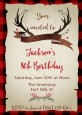 Lumberjack Buffalo Plaid - Birthday Party Invitations thumbnail